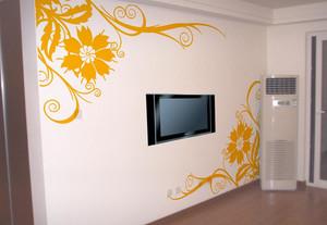 90平米欧式液体壁纸电视背景墙装修效果图