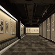 经典中式书画展厅装修