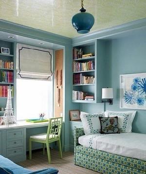 时尚地中海风格卧室背景墙装修