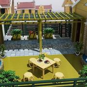 清新别墅入户花园装修设计