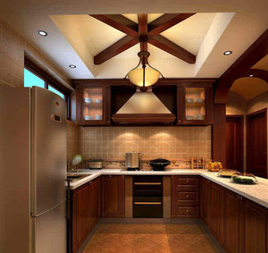 精致中式厨房橱柜装修设计