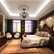 清新美式别墅卧室装修设计