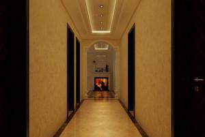三居室欧式客厅走廊吊顶装修效果图欣赏