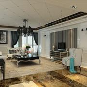 美式别墅卧室窗帘设计