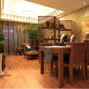 经典东南亚客厅背景墙装修设计