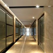 精致现代办公室走廊吊顶设计