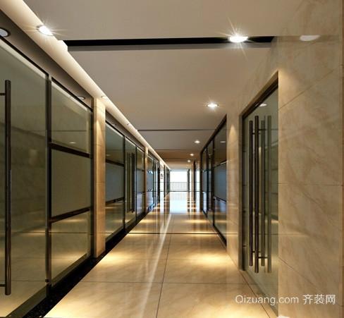 现代简约办公室走廊吊顶装修效果图