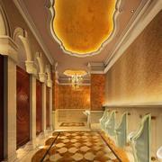 金碧辉煌酒店公厕设计