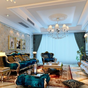 华美法式客厅吊顶设计