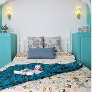 大气地中海风格卧室背景墙装修