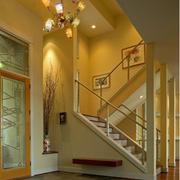 典雅别墅走廊吊顶装修设计