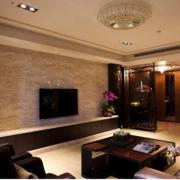 潮流家庭客厅电视墙瓷砖装修