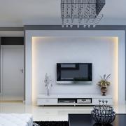 素雅简约风格电视背景墙设计