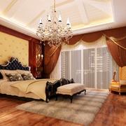 经典别墅卧室窗帘装修设计