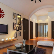 朴实大户型客厅电视背景墙装修