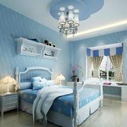 靓丽地中海卧室背景墙装修