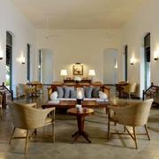 清新三居东南亚客厅装修设计