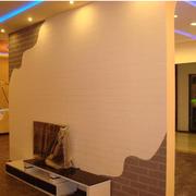 宜家液体壁纸电视背景墙装修