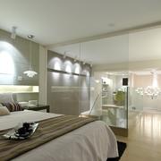 简单素雅单身公寓卧室装修
