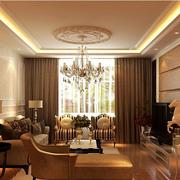 雅欧式别墅窗帘装修设计
