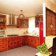 清新中式厨房橱柜装修设计