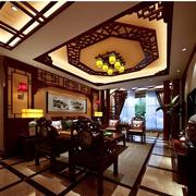 中式乡村洋楼客厅装修设计