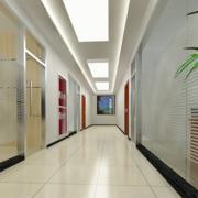 精致办公室走廊吊顶设计