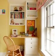 恬静欧式小书房书架装修