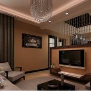 大气美式客厅隔断装修设计