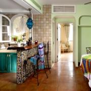 简约地中海开放式厨房装修