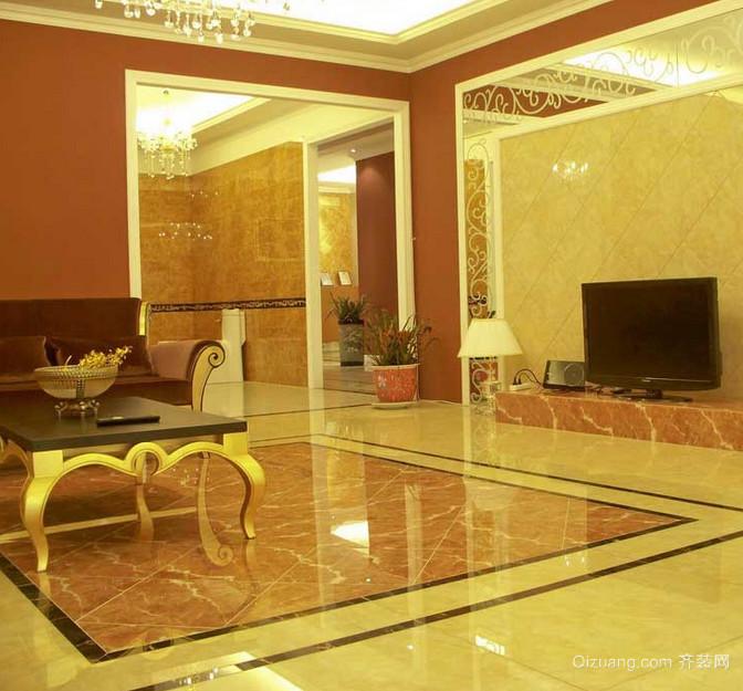 极具完美的欧式客厅地板砖装修效果图