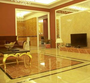 华美欧式客厅地板砖装修