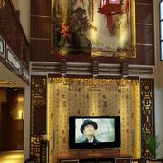 大气中式别墅客厅电视背景墙