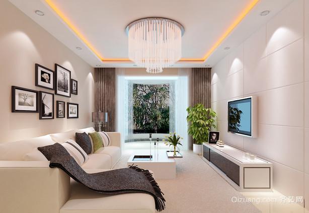 大户型现代简约客厅装修效果图大全2015
