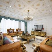 靓丽法式客厅吊顶设计