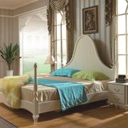 清新地中海风格卧室背景墙装修