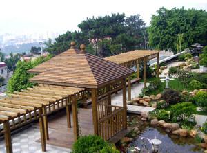 气派的中式风格别墅入户花园装修效果图鉴赏