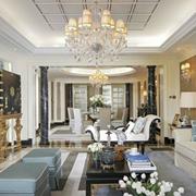 时尚法式客厅吊顶设计