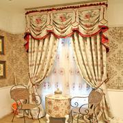 华美欧式奢华别墅窗帘设计