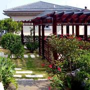 古韵别墅入户花园设计