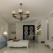 现代地中海客厅吊顶设计