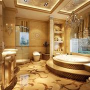 美式别墅卫生间窗帘设计