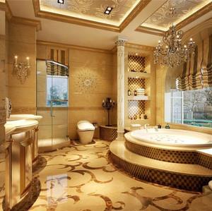 美式别墅窗帘效果图
