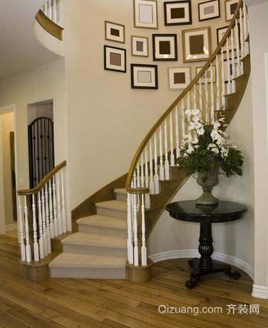 120平米小别墅楼梯创意照片墙装修设计效果图