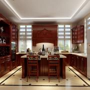 精装中式别墅橱柜效果图