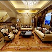华美别墅客厅窗帘装修设计