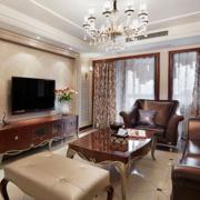 大气家庭客厅电视墙瓷砖装修
