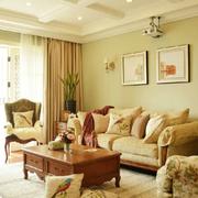 素雅客厅沙发背景装修设计