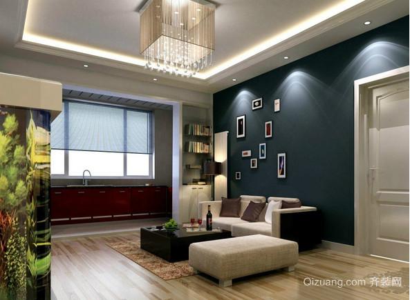 简约风格小户型客厅吊顶装修效果图