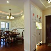 经典美式客厅隔断装修设计